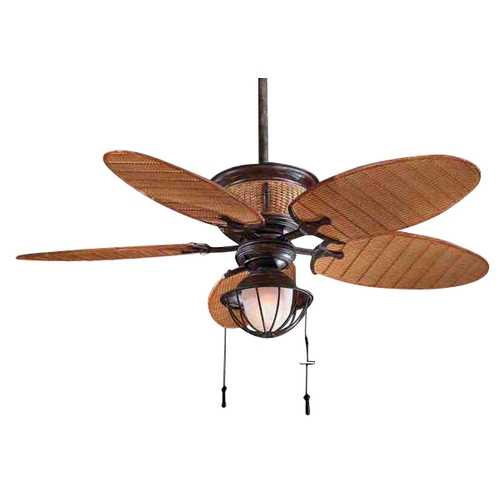 Minka Aire Ceiling Fan with Five Blades and Light Kit F580-VR/BB