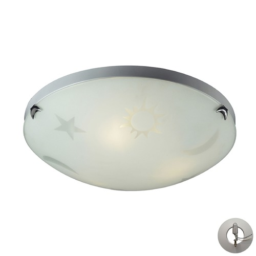 Elk Lighting Novelty Satin Nickel Flushmount Light - Includes Recessed Adapter Kit 5088/3-LA