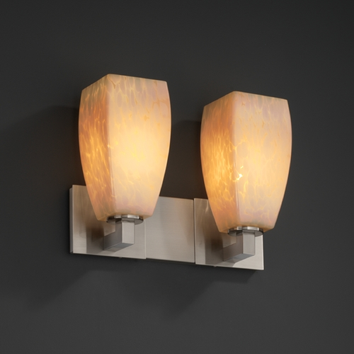 Justice Design Group Justice Design Group Fusion Collection Bathroom Light FSN-8922-65-DROP-NCKL