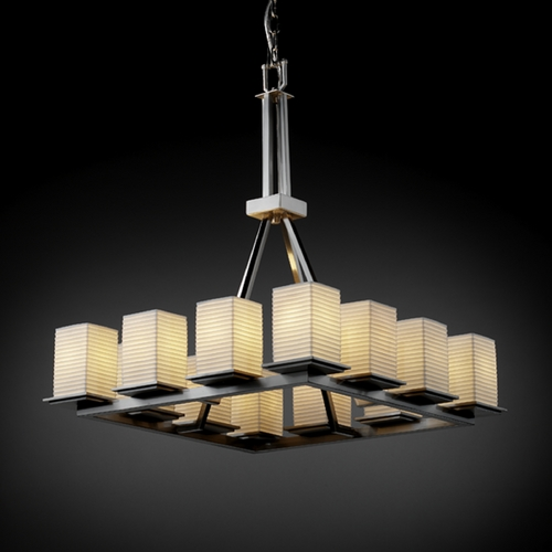 Justice Design Group Justice Design Group Limoges Collection Chandelier POR-8663-15-SAWT-NCKL