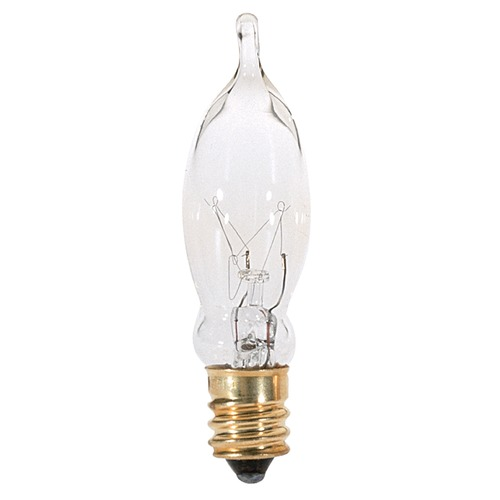Satco Lighting Incandescent CA5 Light Bulb Candelabra Base 120V by Satco S3241