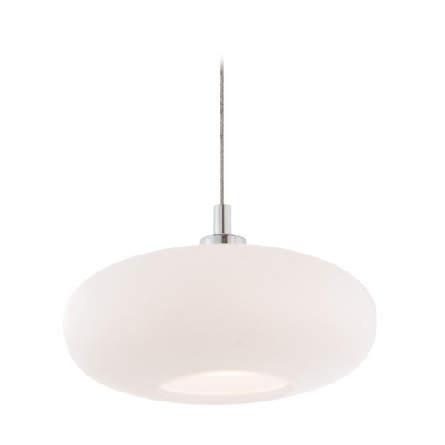 Holtkoetter Lighting Holtkoetter Modern Low Voltage Mini-Pendant Light with White Glass C8120 S006 G5701 CH
