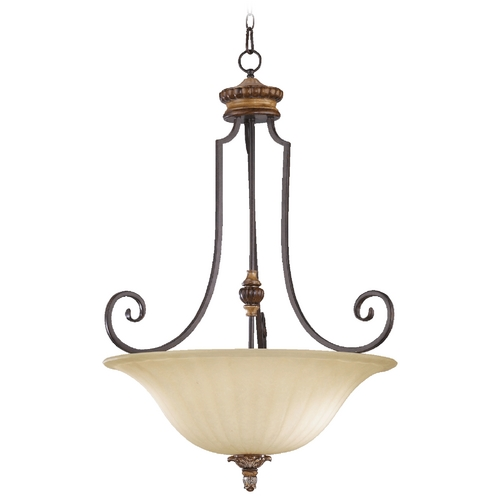 Quorum Lighting Quorum Lighting Capella Toasted Sienna with Golden Fawn Pendant Light 8101-4-44
