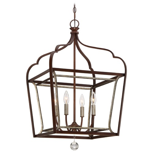 Minka Lavery Minka Astrapia Dark Rubbed Sienna with Aged Silver Pendant Light 4344-593