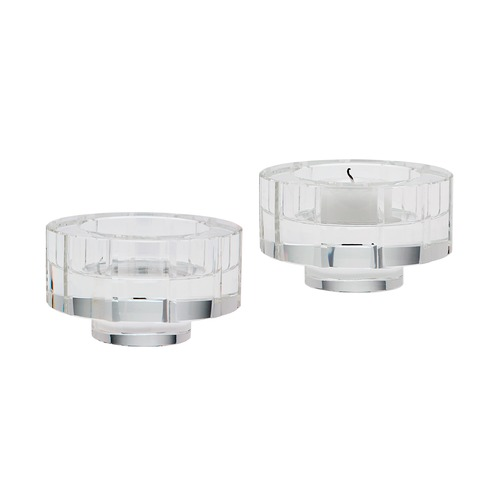 Dimond Lighting Round Windowpane Crystal Candleholders - Smallall. Set Of 2 980014/S2