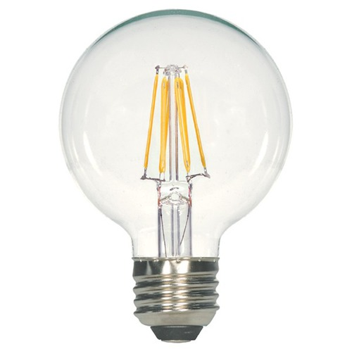 Satco Lighting Satco Vintage Style Carbon Filament LED G25 Bulb Medium Base 2700K 120V 60-Watt Equiv Dimmable S9564