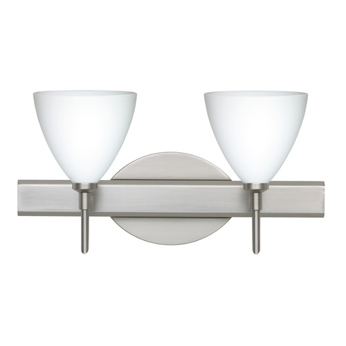 Besa Lighting Besa Lighting Mia Satin Nickel LED Bathroom Light 2SW-177907-LED-SN