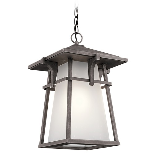 Kichler Lighting Kichler Lighting Beckett Weathered Zinc Outdoor Hanging Light 49725WZC