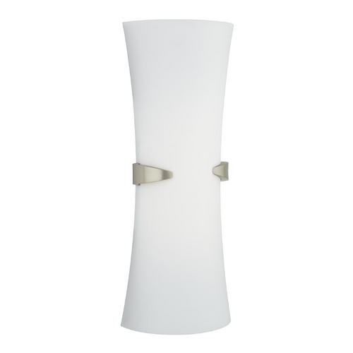 Philips Lighting Modern Sconce Wall Light with White in Satin Nickel Finish F552836U