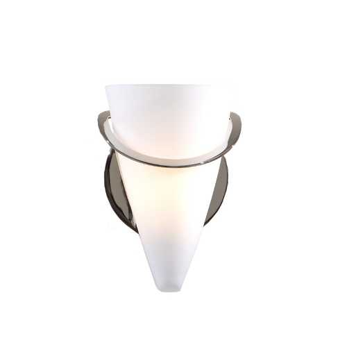 Holtkoetter Lighting Satin White French Glass Sconce 2977/1-PN/SW