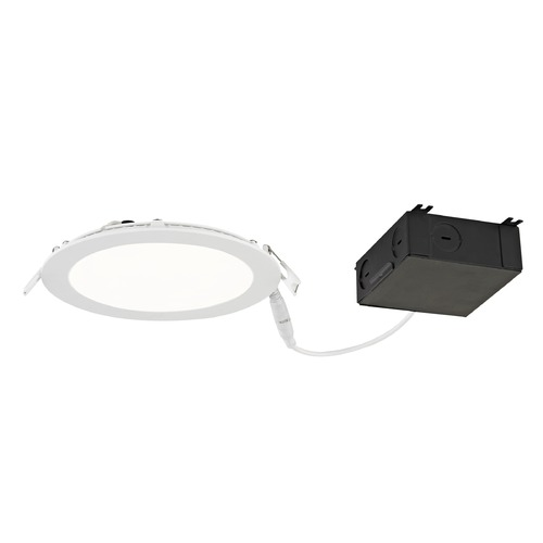 Recesso Lighting by Dolan Designs 6-Inch Shallow Canless LED Recessed Light 3000K 1040 Lumens - IC and Airtight Rated 10940-30-05
