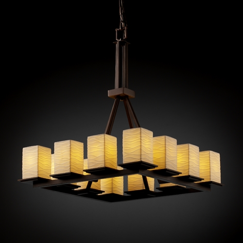 Justice Design Group Justice Design Group Limoges Collection Chandelier POR-8663-15-WAVE-DBRZ