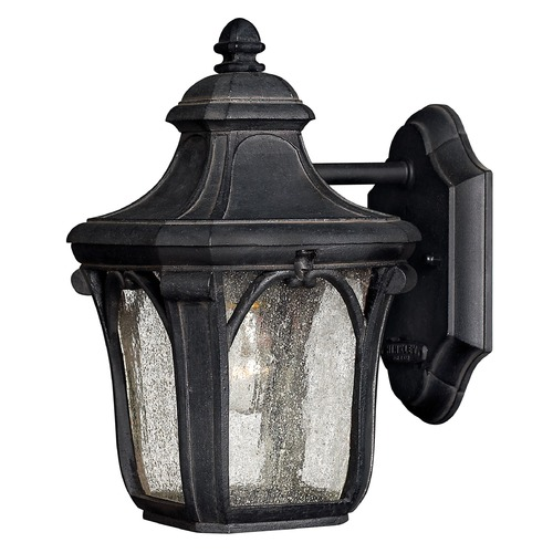 Hinkley Seeded Glass Outdoor Wall Light Black Hinkley 1316MB