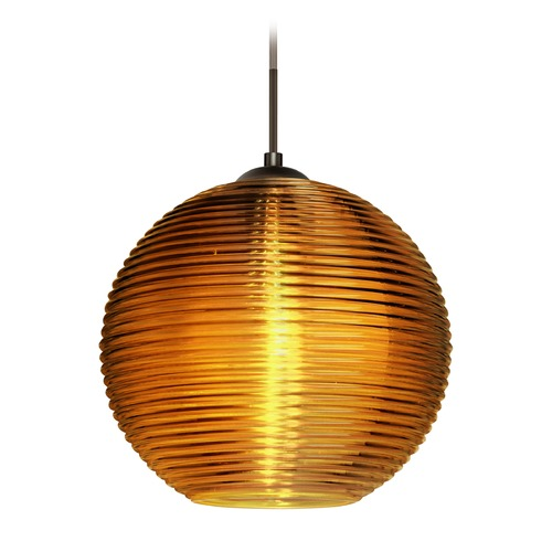 Besa Lighting Besa Lighting Kristall Bronze LED Pendant Light 1JT-461682-LED-BR