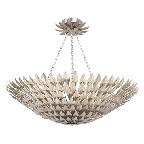 Crystorama Lighting Crystorama Lighting Broche Antique Silver Semi-Flushmount Light 519-SA_CEILING