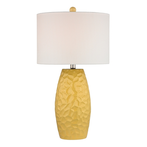 Dimond Lighting Table Lamp with White Shades in Sunshine Yellow Finish D2500