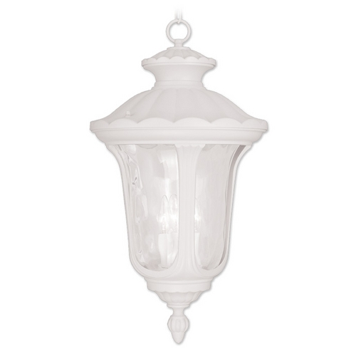 Livex Lighting Livex Lighting Oxford White Outdoor Hanging Light 7865-03