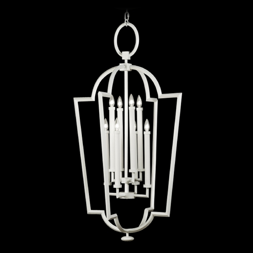 Fine Art Lamps Fine Art Lamps Black + White Story White Satin Lacquer Pendant Light 780440-5ST