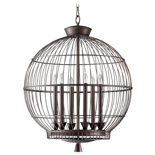 Cyan Design Cyan Design Hendricks Bird Cage Oiled Bronze Pendant Light 04754