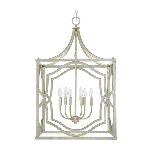 Capital Lighting Capital Lighting Blakely Antique Silver Pendant Light 9483AS