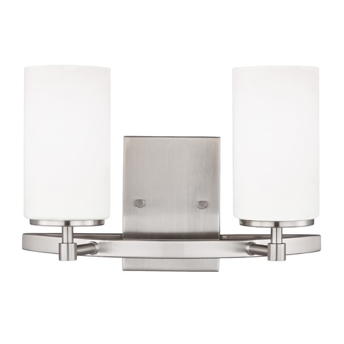 Sea Gull Lighting Sea Gull Alturas Brushed Nickel Bathroom Light 4424602-962