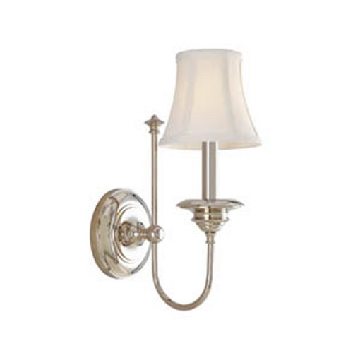 Hudson Valley Lighting Sconce Wall Light with White Shade in Polished Nickel Finish 8711-PN