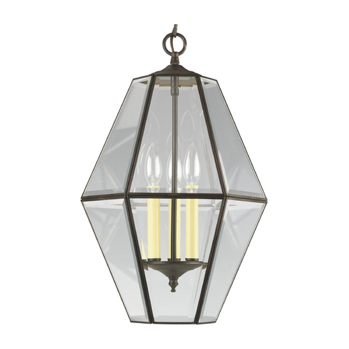 Progress Lighting Progress Pendant Light with Clear Glass in Antique Bronze Finish P3716-20