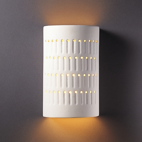 Justice Design Group Sconce Wall Light in Bisque Finish CER-2285-BIS