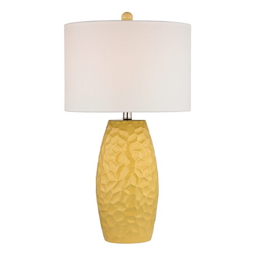 Dimond Lighting LED Table Lamp with White Shades in Sunshine Yellow Finish D2500-LED