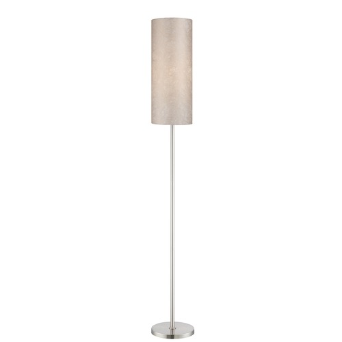 Lite Source Lighting Lite Source Secia Polished Steel Floor Lamp with Cylindrical Shade LS-82334