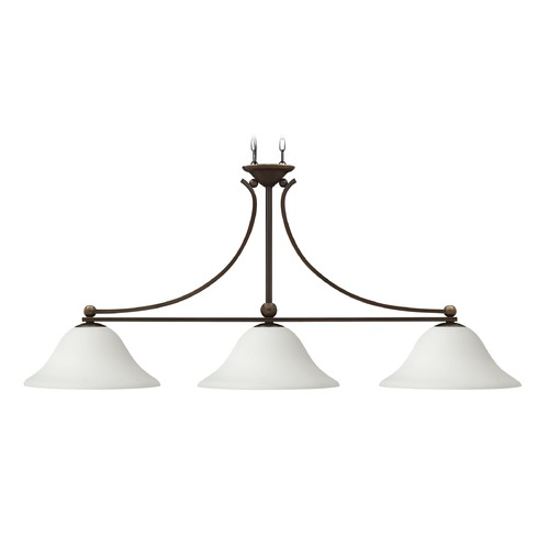 Hinkley Lighting Hinkley Lighting Bolla Olde Bronze Island Light with Bowl / Dome Shade 4666OB-OPAL