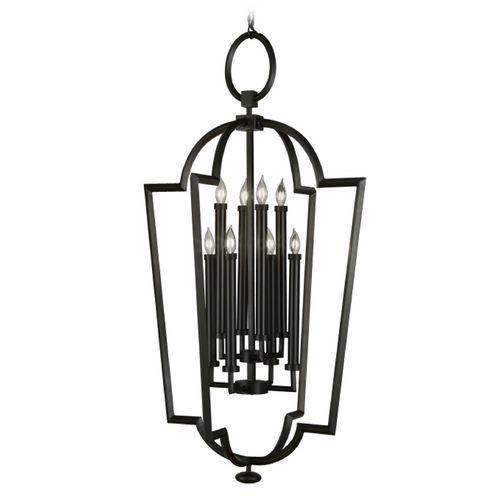 Fine Art Lamps Fine Art Lamps Black + White Story Black Satin Lacquer Pendant Light 780440-6ST