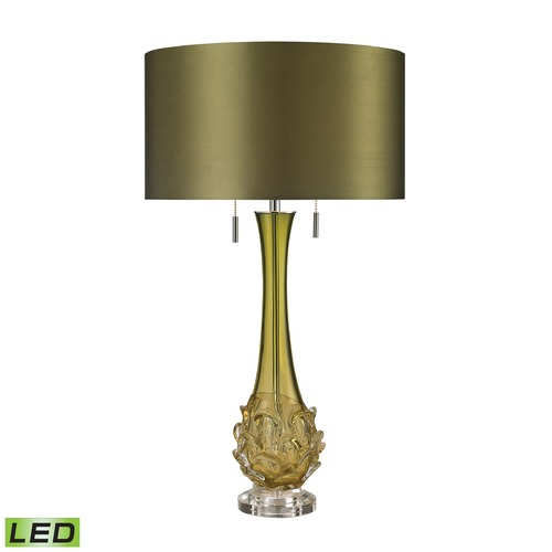 Dimond Lighting Dimond Lighting Green LED Table Lamp with Drum Shade D2667-LED