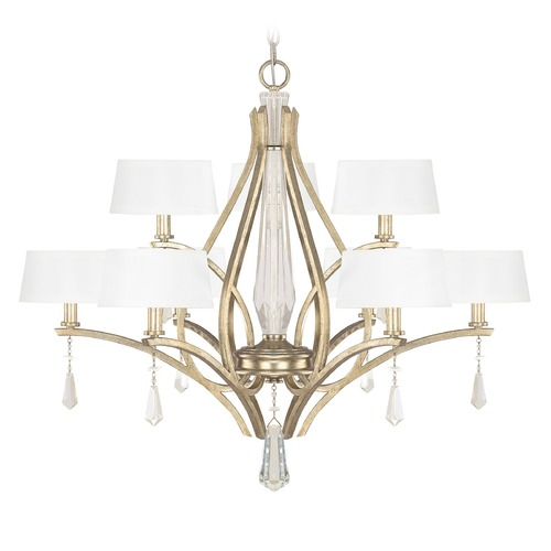 Capital Lighting Capital Lighting Margo Winter Gold Crystal Chandelier 4229WG-549-CR
