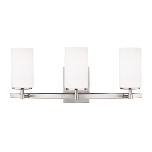 Sea Gull Lighting Sea Gull Alturas Brushed Nickel Bathroom Light 4424603-962