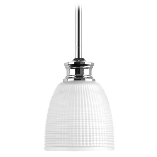 Progress Lighting Progress Lighting Lucky Polished Chrome Mini-Pendant Light with Bowl / Dome Shade P5088-15