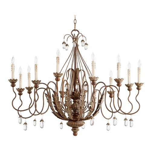 Quorum Lighting Quorum Lighting Venice Vintage Copper Chandelier 6344-12-39