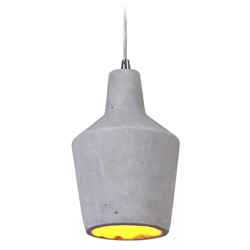 Craftmade Lighting Craftmade Brushed Polished Nickel Pendant with Grey Shade P688BNK1