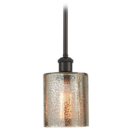 Innovations Lighting Innovations Lighting Cobbleskill Oil Rubbed Bronze Mini-Pendant Light with Cylindrical Shade 516-1S-OB-G116