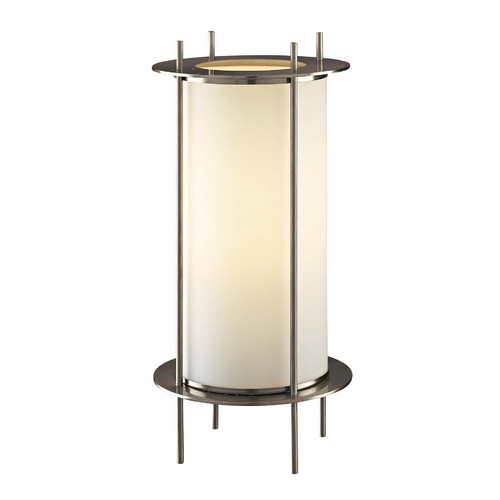 George Kovacs Lighting Modern Table Lamp with White Glass in Brushed Nickel Finish P005-084