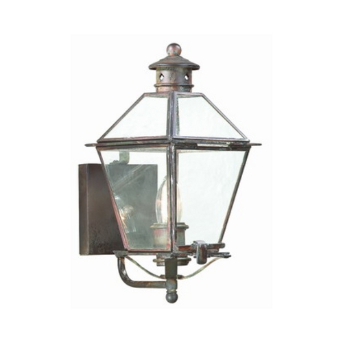 Troy Lighting Outdoor Hanging Light with Clear Glass in Charred Iron Finish B8950CI
