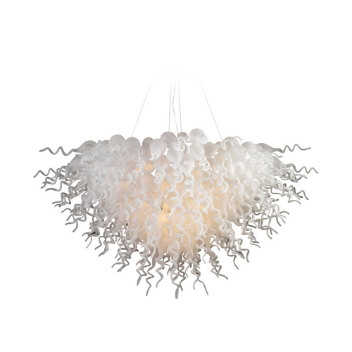 PLC Lighting Modern Pendant Light with Amber Glass in Polished Chrome Finish 23618  AMB/ PC