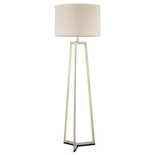 Lite Source Pax Brushed Nickel Floor Lamp With Drum Shade
