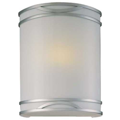 Minka Lavery Sconce in Brushed Nickel Finish with White Diffuser 371-PL