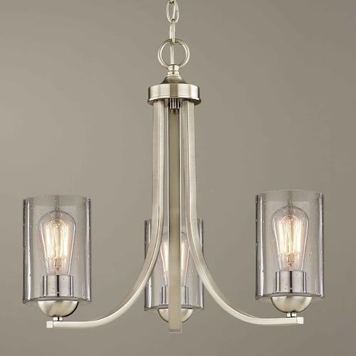 Design Classics Lighting Design Classics Dalton Fuse Satin Nickel Mini-Chandelier 5843-09 GL1041C