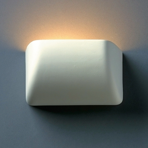 Justice Design Group Sconce Wall Light in Bisque Finish CER-2900-BIS