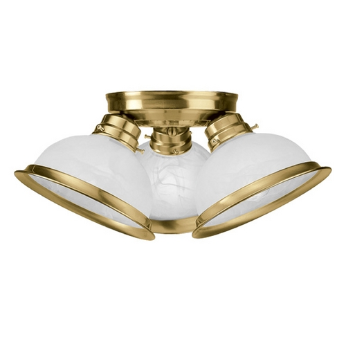 Livex Lighting Livex Lighting Antique Brass Semi-Flushmount Light 8108-01