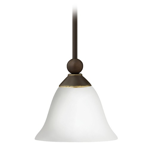 Hinkley Lighting Hinkley Lighting Bolla Olde Bronze Mini-Pendant Light with Urn Shade 4667OB-OPAL