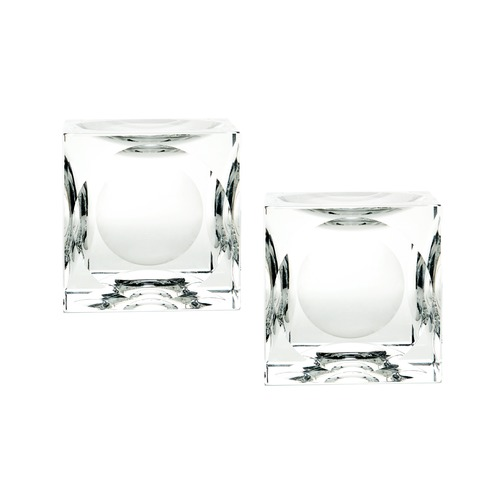 Dimond Home Dimpled Crystal Cubes - Large. Set Of 2 980017/S2