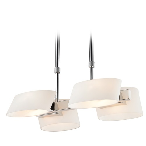 Golden Lighting Golden Lighting Clio Chrome Pendant Light with Cylindrical Shade C130-04-CH-OP